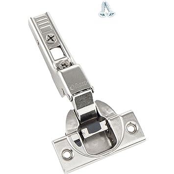 BLUM Clip top M/öbel-Scharnier Schrauben und Montageanleitung 10 St/ück inkl M/öbelband; Mittelanschlag Montageplatten