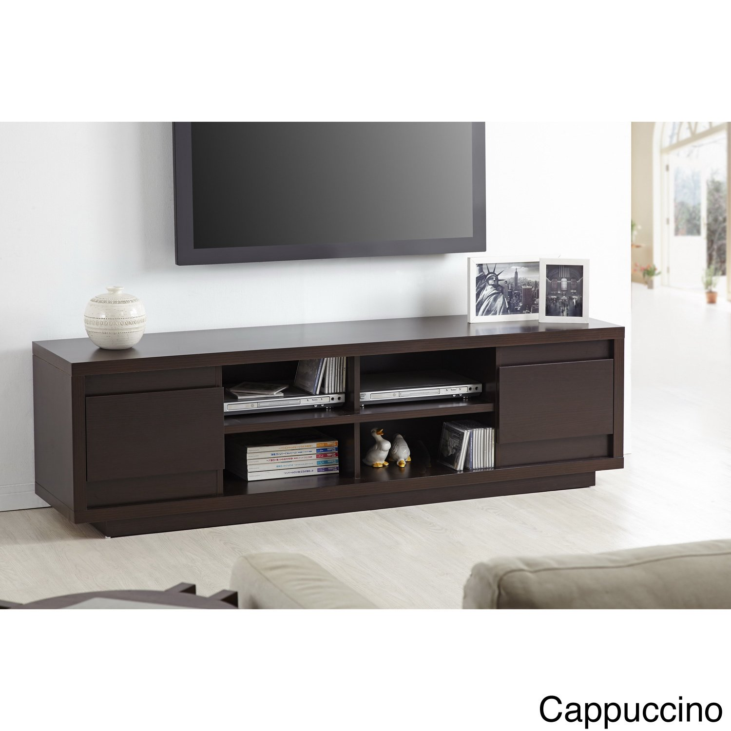 Metro Shop Furniture of America Irvine Contemporary 70-inch Entertainment TV Console-Cappuccino