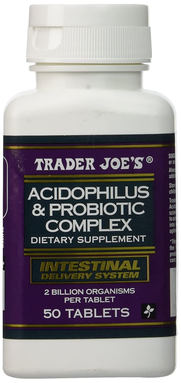 Trader Joes Acidophilus and Probiotic Complex, 50 Tablets, 2 Billion Organisms Per Tablet
