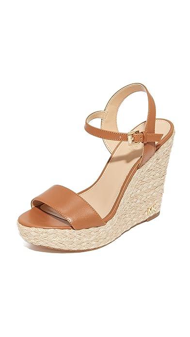 67e694a7bd2 MICHAEL Michael Kors Jill Wedge Acorn Vachetta Women s Shoes  Amazon ...