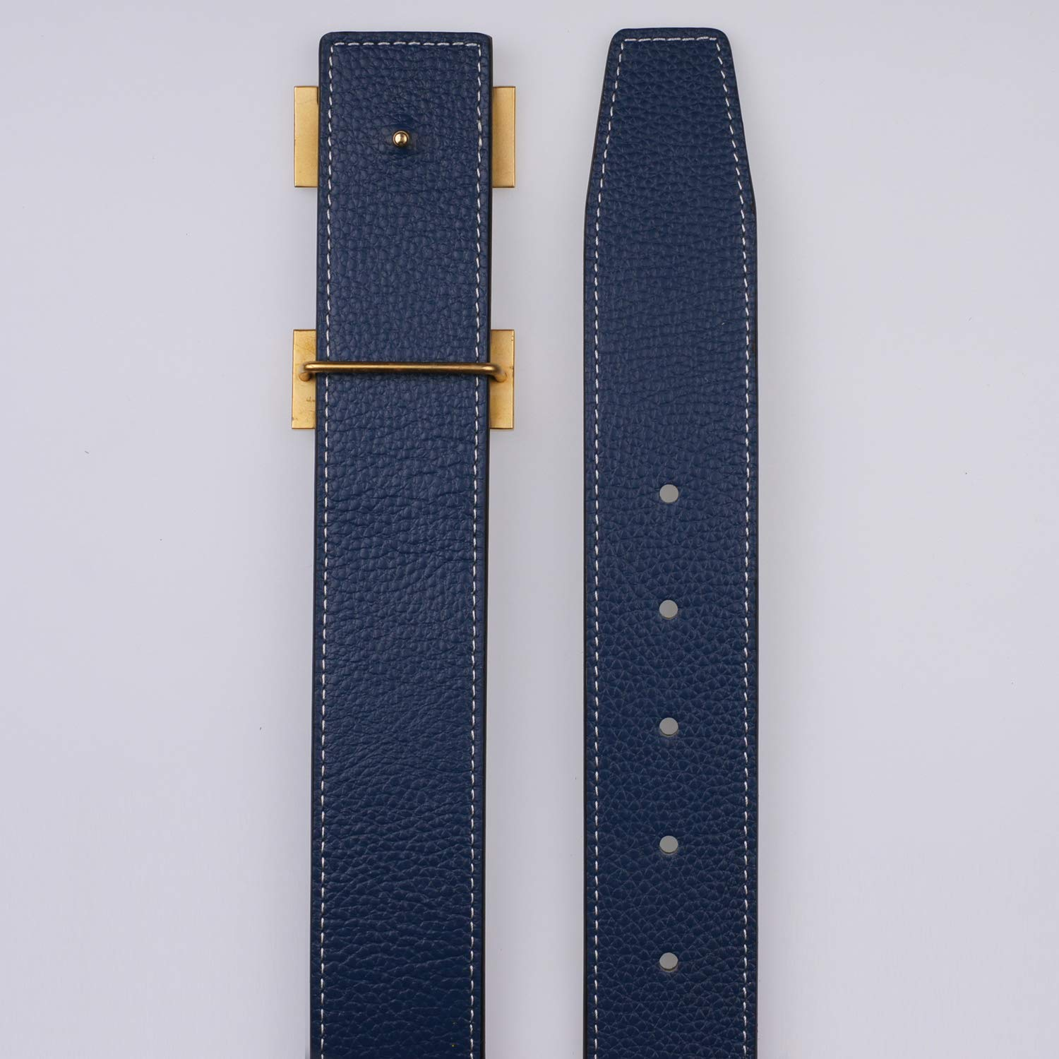 for Hermes Replacement Leather Belt Strap Reversible Replacement Belt Strap Genuine Leather 1 1//2inch Wide