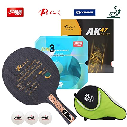DHS / Palio Hand Assembled Professional Table Tennis Racket - Professional Ping Pong Racket Combination –