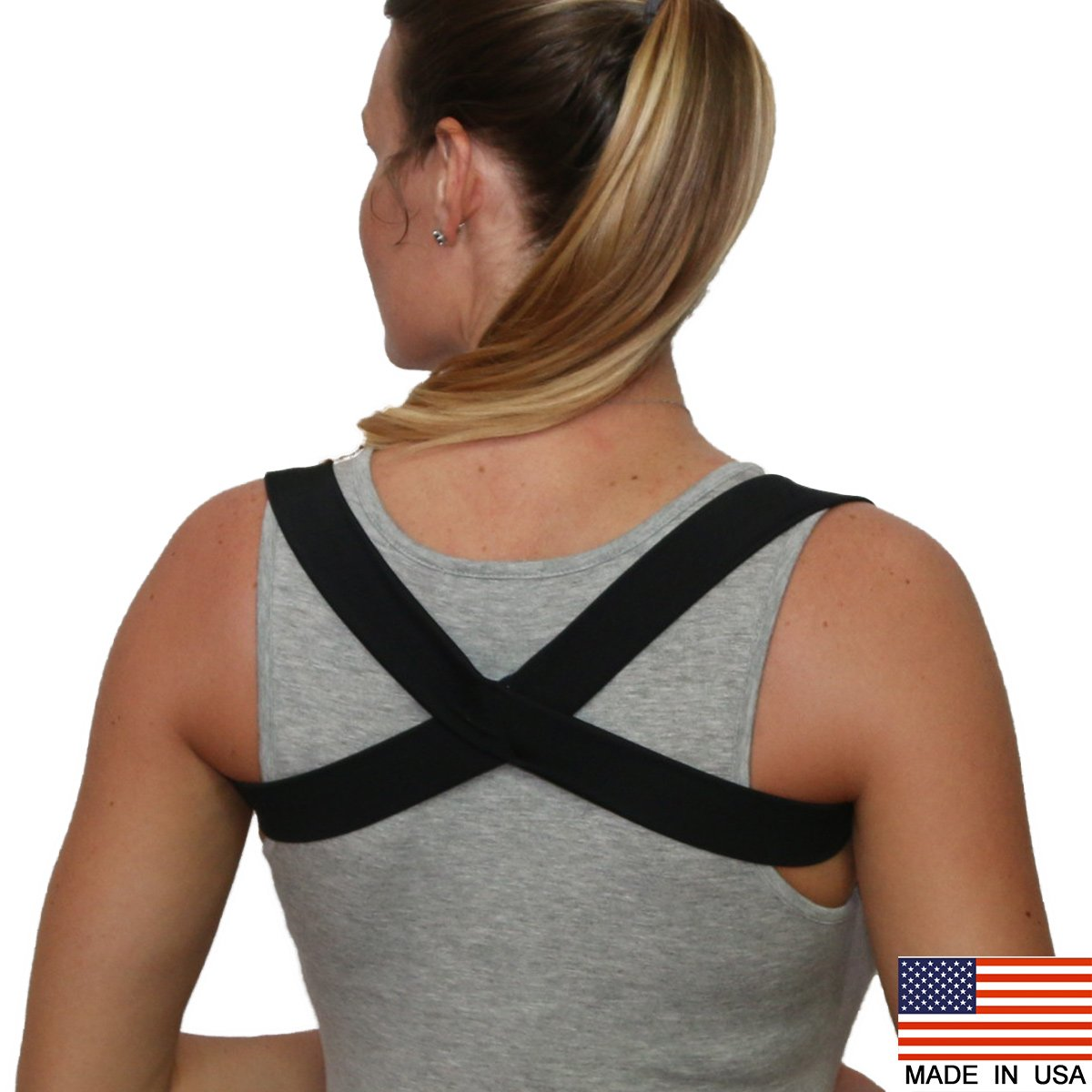 The 2 in 1 Posture Brace | Posturific Brace.com - Posture Corrector (Black Small)