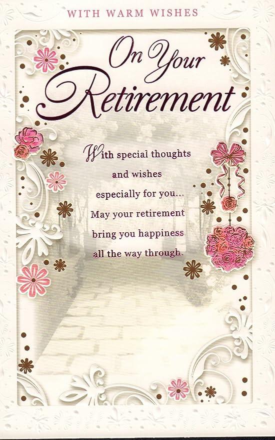 Tarjeta de jubilación - con cálido deseos en su jubilación ...