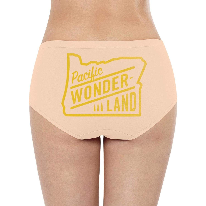 weerdoes Pacific Wonderland OregonWomens Bikini Panty Super Comfy Stretch Quick Dry Low Waist Briefs