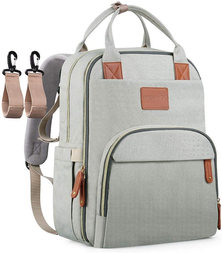 Amazon.com: Beschoi Mommy Mochila de viaje para pañales de ...