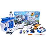Airport Playset,PUQU Future City Protector Airport Deluxe Playset Creativity Learning Educational Toy for Kids