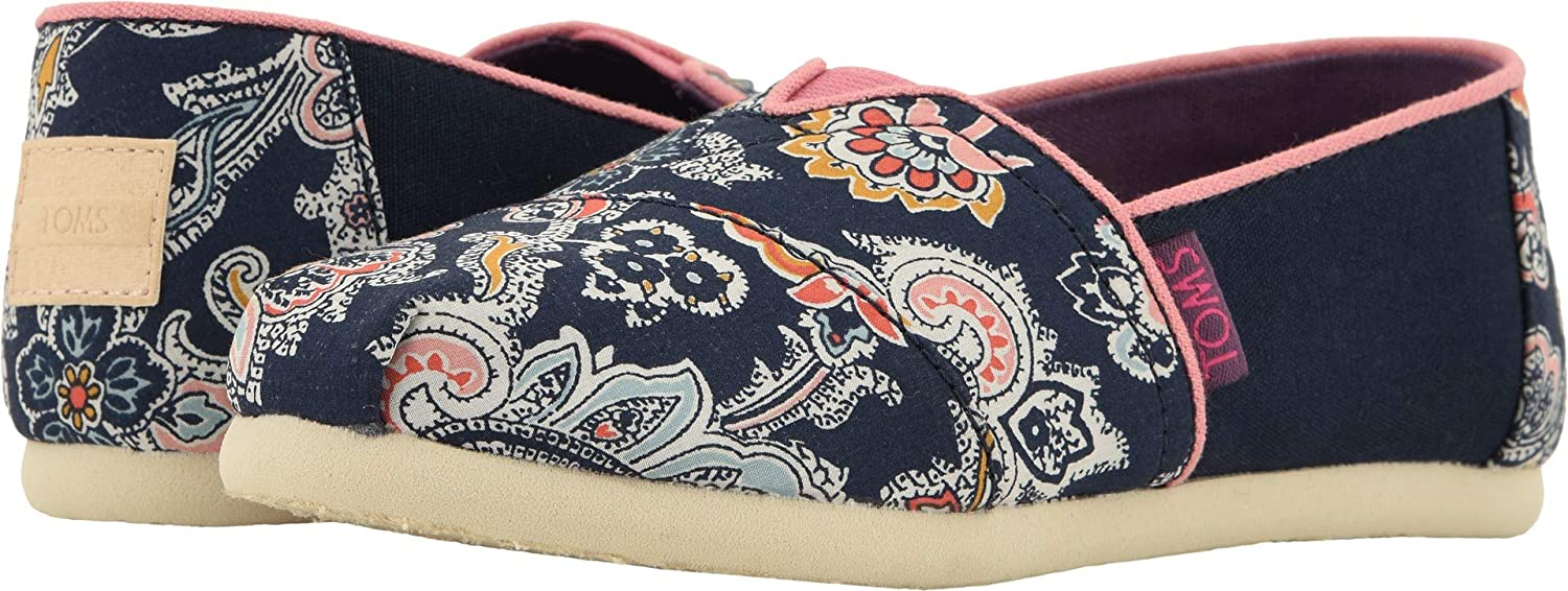 Amazon.com | TOMS Kids Girls Alpargata (Little Kid/Big Kid) Navy Paisley Multi Liberty Louis Print 12.5 M US Little Kid | Shoes