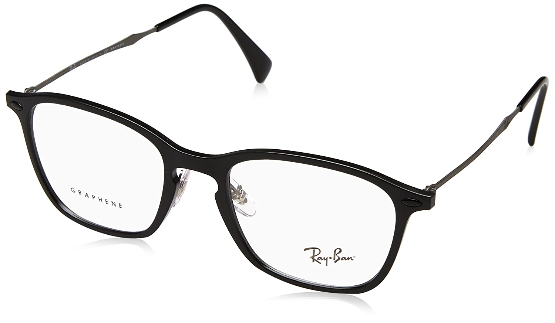 dd648dfc24 Amazon.com  Ray-Ban Unisex RX8955 Eyeglasses Black Graphene 51mm  Clothing
