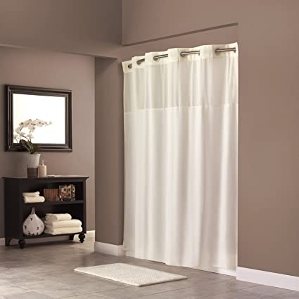 com amazon kitchen arcs navy in curtain with shower hookless dp blue home built fabric liner angles