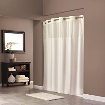 Hookless RBH40MY302 Fabric Shower Curtain   Beige