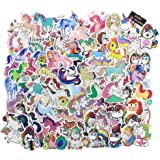 Stickers [100 pcs],Graffiti Vinyl Decal Stickers Apply to Car,Laptop,Bicycle,Luggage,Kids Motorcycle Skateboard Snowboard - No-Duplicate Sticker Pack Unicorn Stickers 0905556
