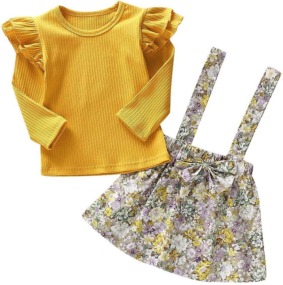 Lazzboy Ropa para niños Vestido de niña de Manga Larga Camiseta ...