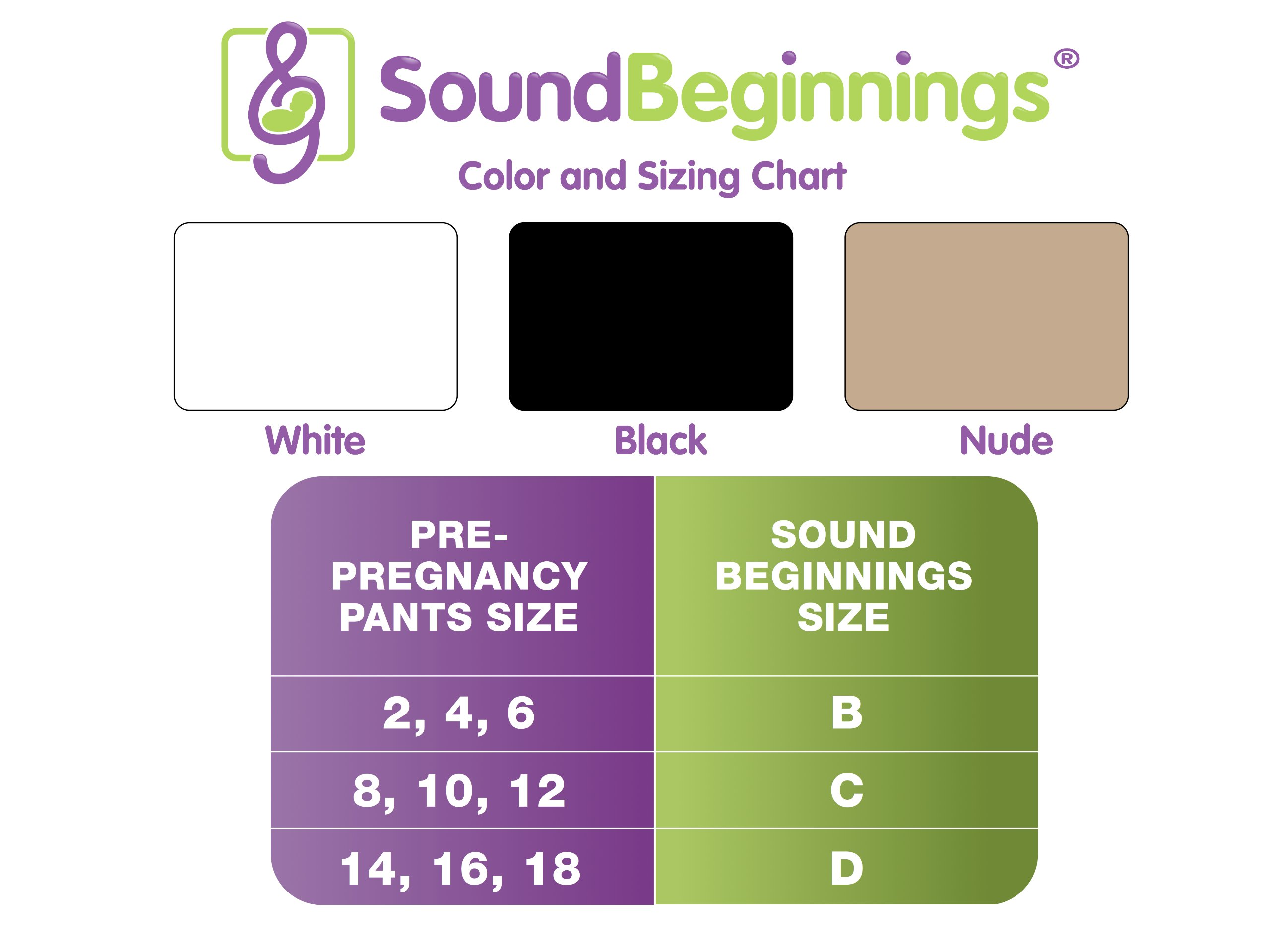 Sound Beginnings Pregnancy Music Belly Band, Nude, Medium by Sound Beginnings (Image #4)
