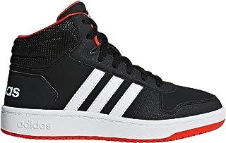 adidas Baby Hoops 2.0 Basketball Shoe, Black/White/Red, 5K M US Toddler