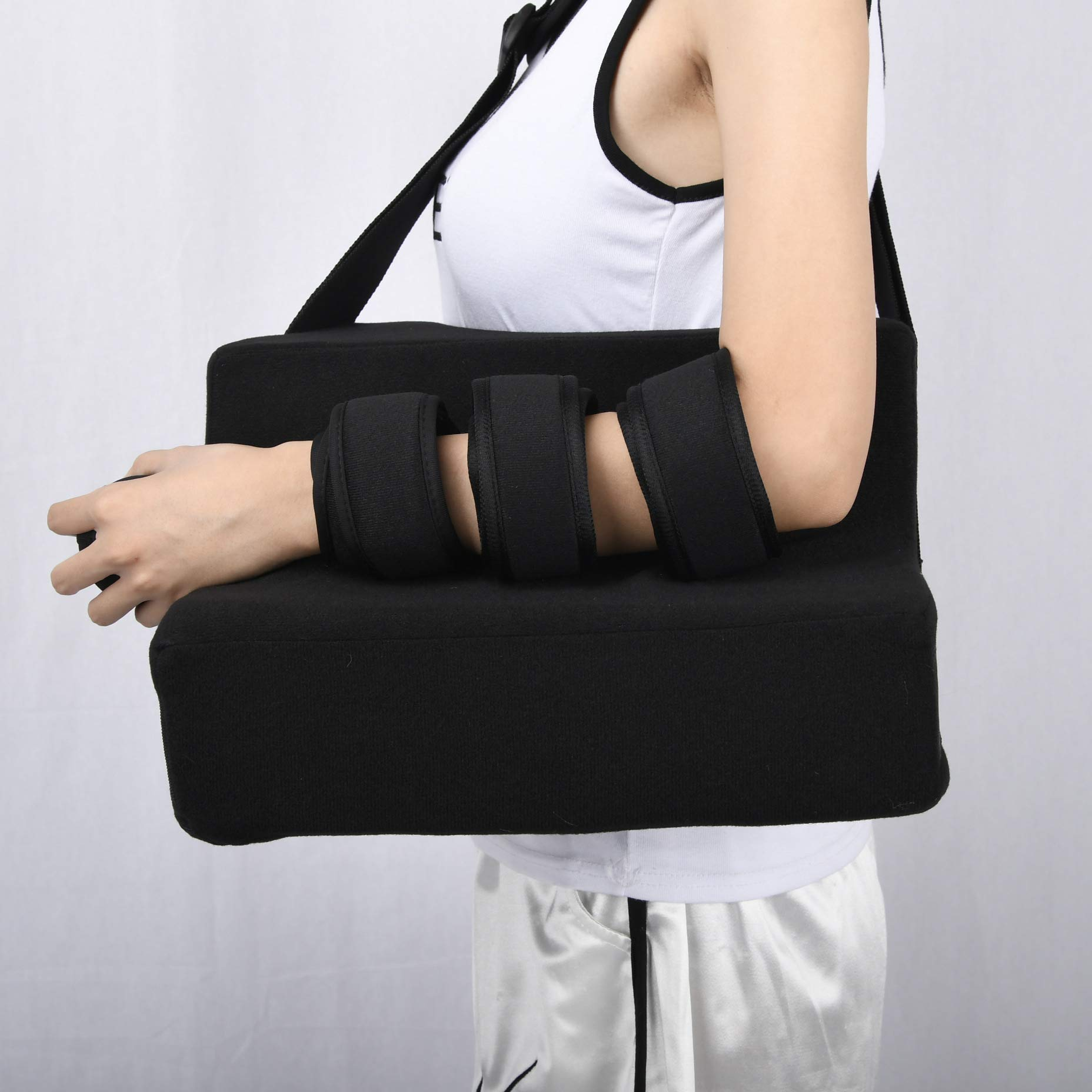 LXT PANDA Shoulder Support Sling, Immobilizer for Injury Support, Shoulder Abduction Sling Rotator Cuff Immobilizer Support Brace with Pillow & Ball. by LXT PANDA