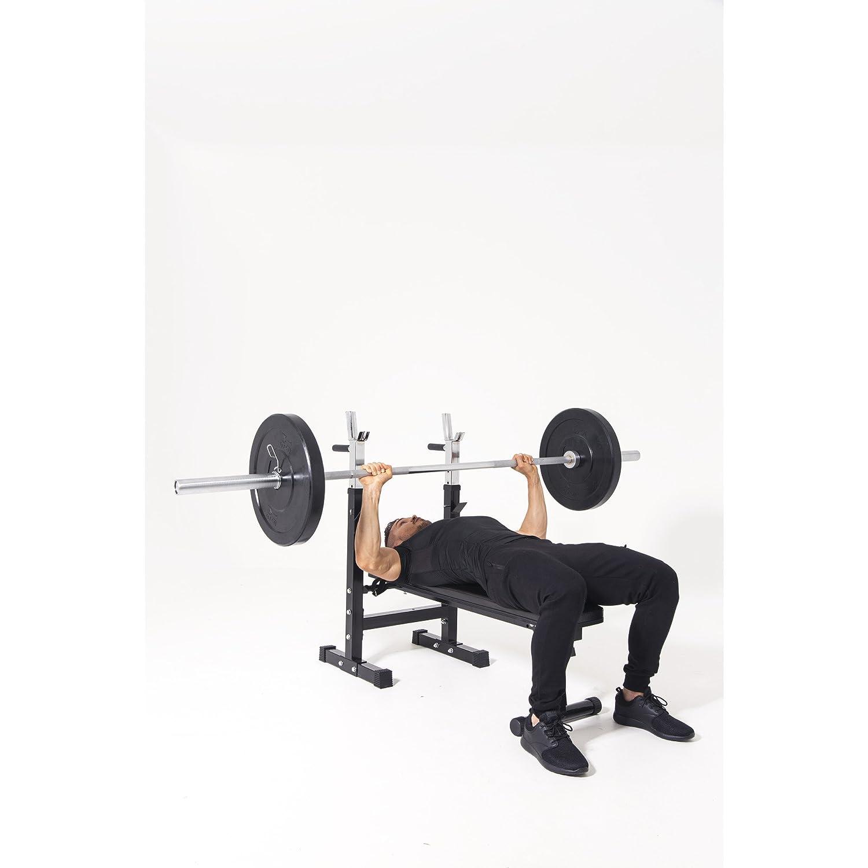 Gorilla Sports Banc de Musculation avec Poids DE 70 kg en Vinyle