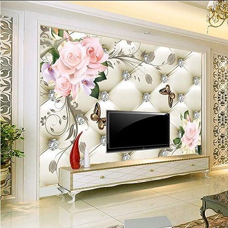 Amazon Com Hwhz Custom 3d Mural Wallpaper European Style Rose