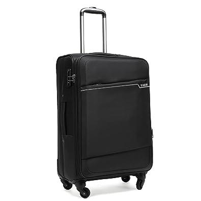60773c30d3 クロース(Kroeus)スーツケース ソフトキャリー 超軽量 容量拡張機能 TSAロック搭載