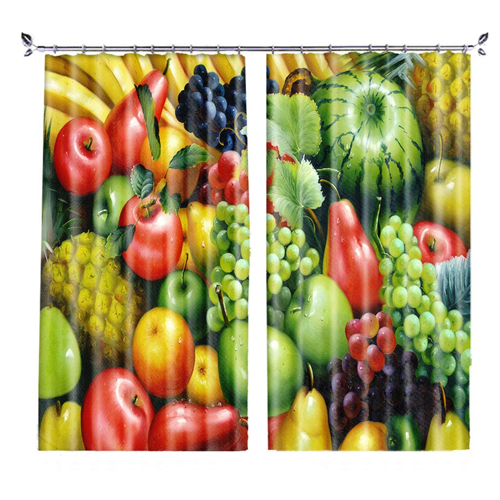 ZZHL Curtains Curtains,Hooks Rings Blackout Set Thermal Insulated Window Treatment Solid Eyelet Bedroom 2 Panels A7 (Size : 1.5x2.7m)