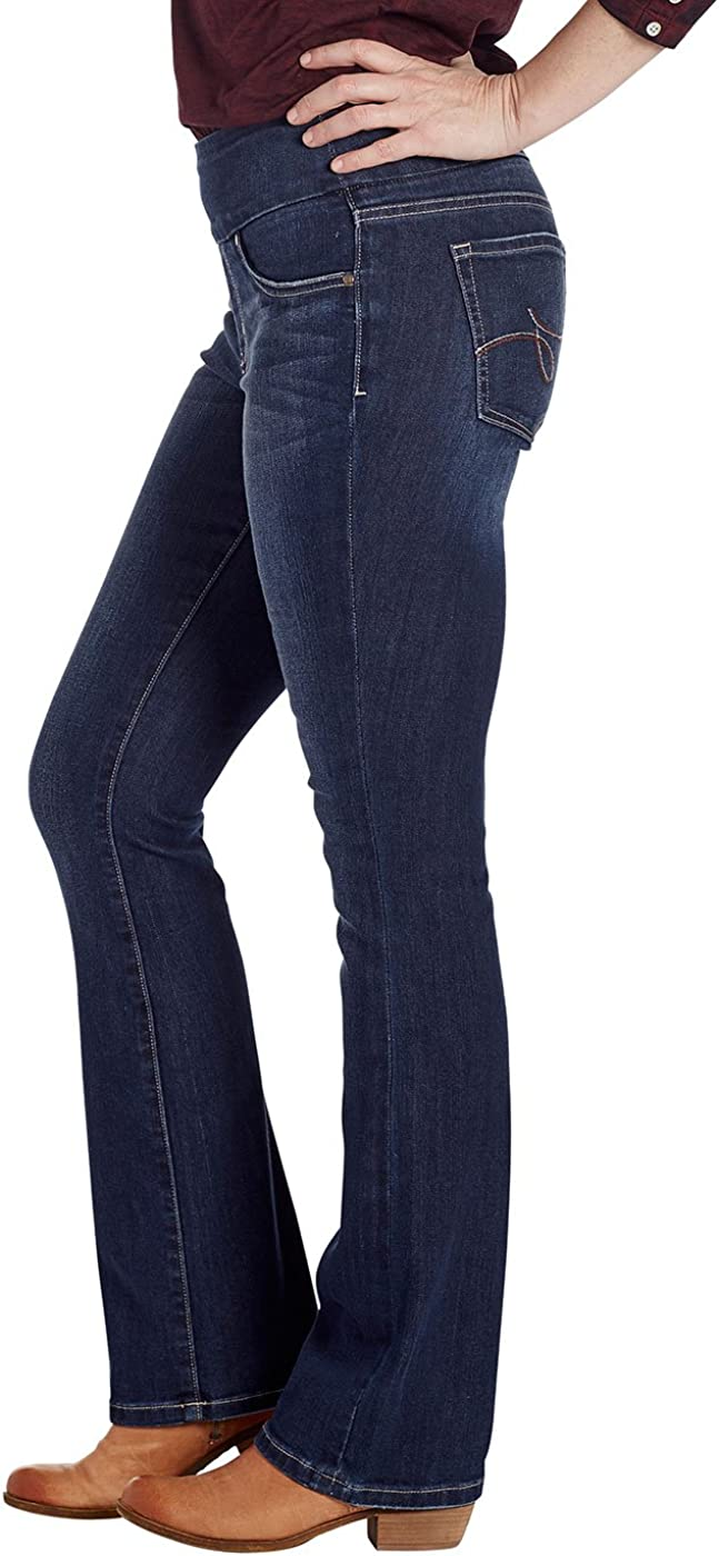 Jag Jeans Womens Paley Boot Pull on Jean in Surrel Denim