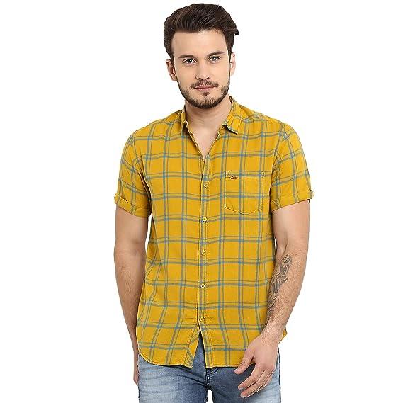 mufti multi slim fit casual shirt)