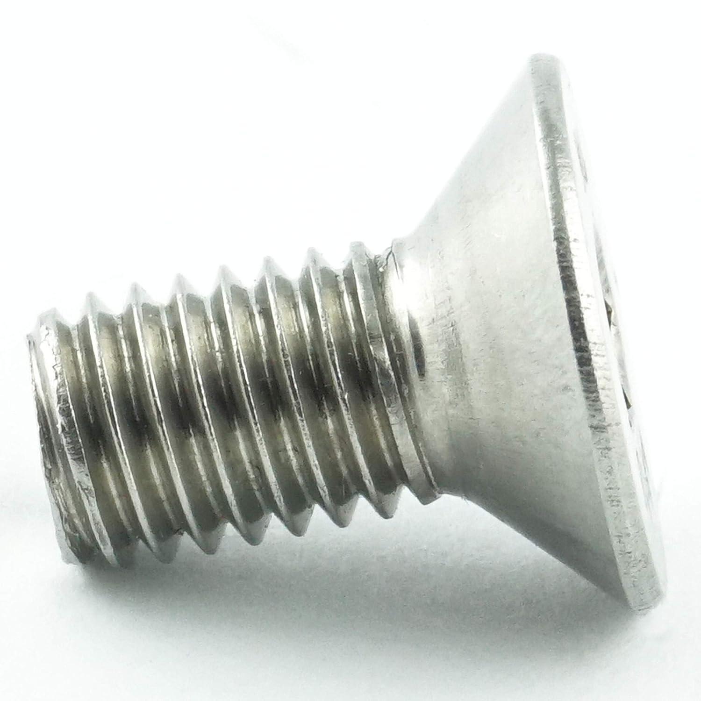 50 St/ück Gewindeschrauben ISO 14581 Senkkopf Schrauben Vollgewinde T25 - DIN 965 rostfrei M5 x 25 mm Senkkopfschrauben mit Innensechsrund TX Eisenwaren2000 Edelstahl A2 V2A