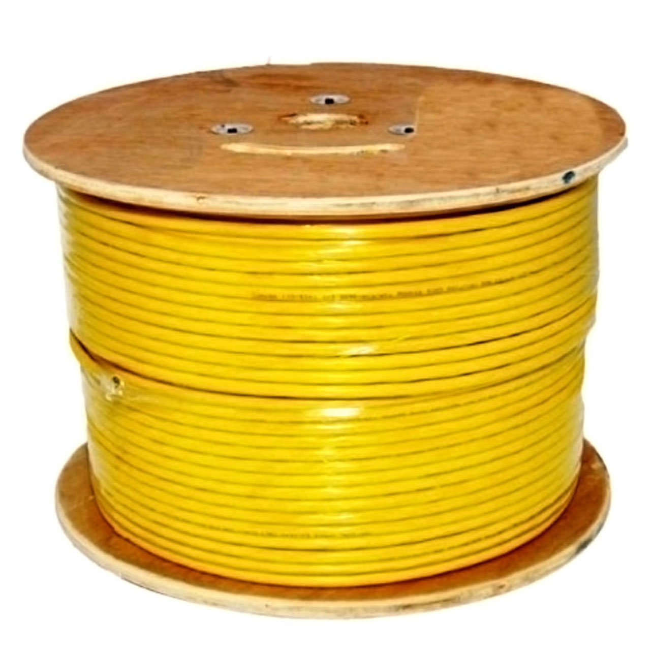 Copper Electrical Wire Bare Solid And Vertical Cable Cat6 550 Mhz Shielded 23awg 1000ft Yellow Bulk Ethernet Computers Accessories