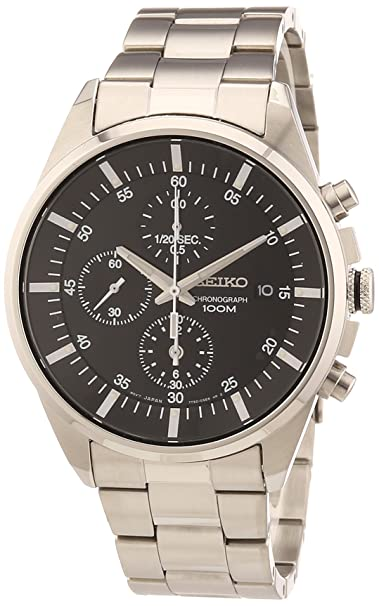 Seiko Men's Sndc81 Stainless Steel Analog With Black Dial Watch by Seiko