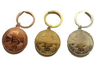 Bitcoin Llavero - Físicos BTC Monedas Oro Plata O. Bronce ...