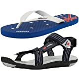 Combo of Lotto Men's Sandal SectionGT7151 with Lotto Drive Slipper