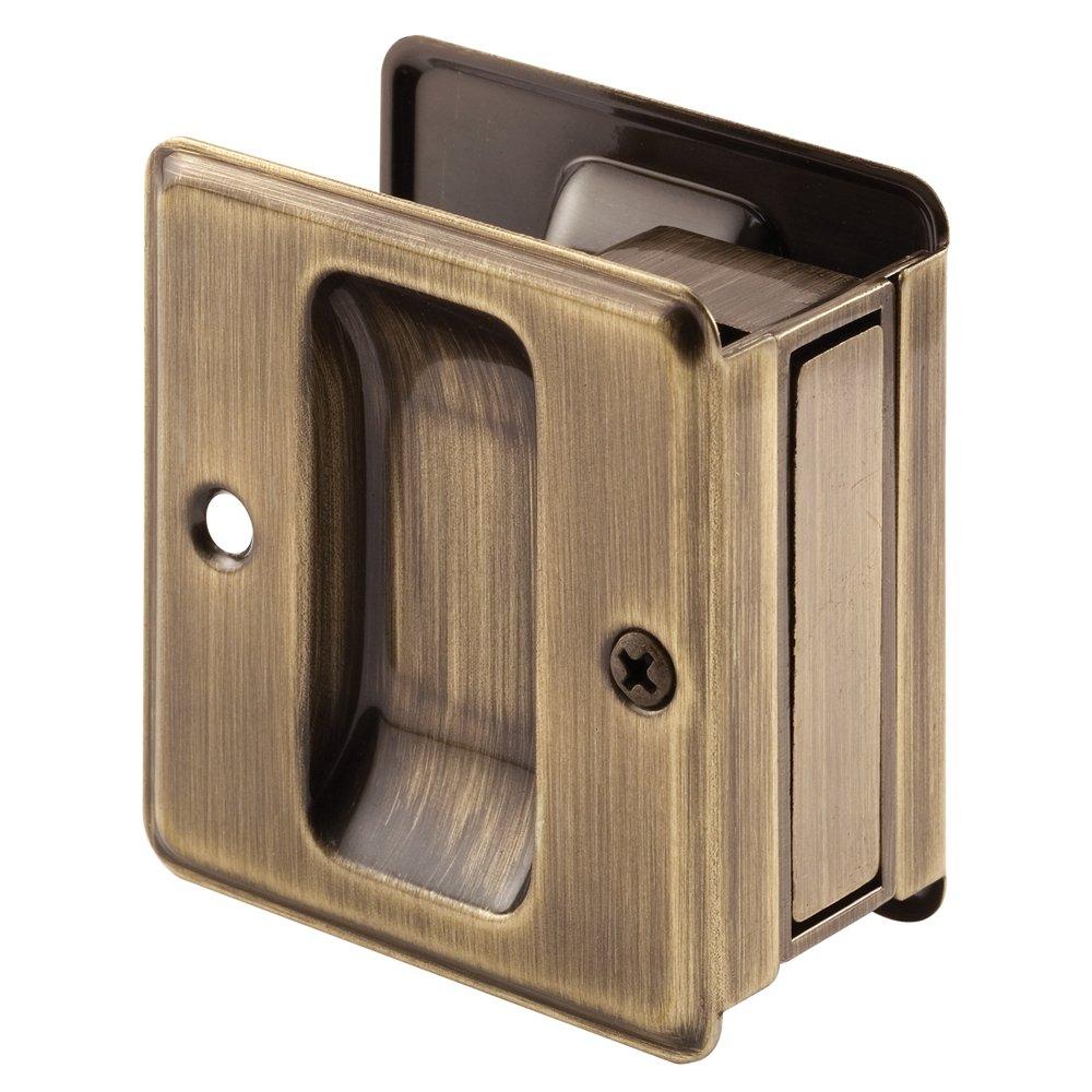 Prime-Line Products N 7080 Pocket Door Passage Pull, Antique Brass