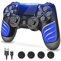 PS4-controller, controller voor PS4, draadloze controller met dubbele vibratie, stereo hoofdtelefoonaansluiting…