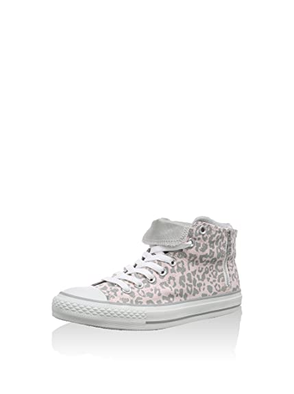 Converse Unisex - CT PC Side Sip Mid White Leopard - White Crystal - UK 4 d8702ab78fea