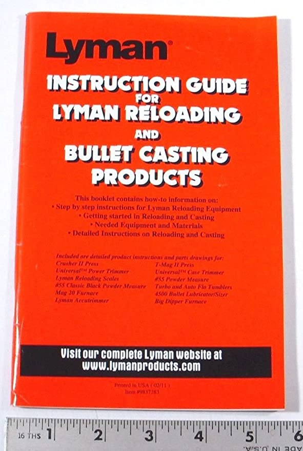 Amazon 2011 Lyman Reloading Instruction Guide Bullet