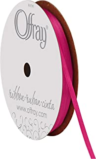 """product image for Offray 1/8"""" Wide Double Face Satin Ribbon, 30 Yards, Azalea Pink"""