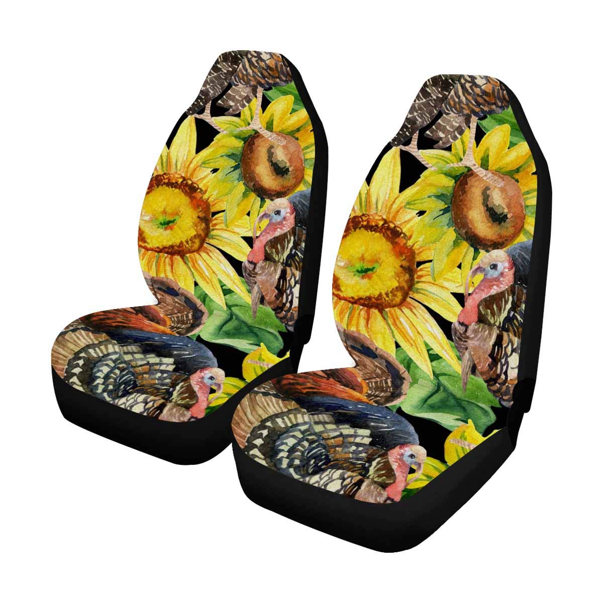 Sedan and Jeep Universal fit for Vehicles InterestPrint Peacock Feather Car Seat Cover Front Seats Only Full Set of 2