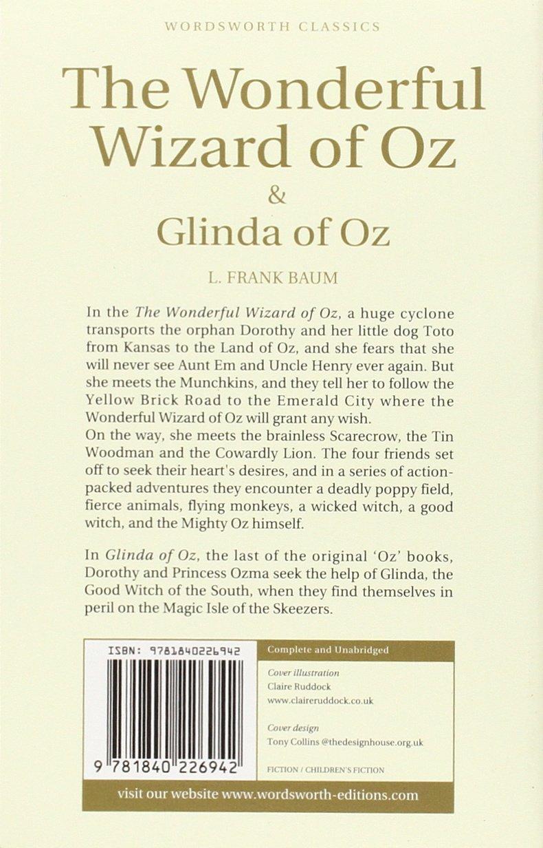 The Wonderful Wizard Of Oz & Glinda Of Oz (children's Classics):  Amazon: L Frank Baum: 9781840226942: Books