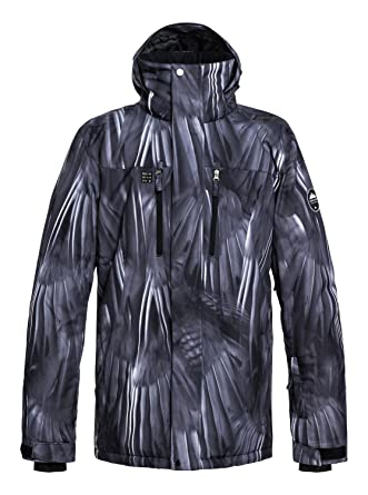 Amazon.com: QUIKSILVER Mens Mission Printed 10k Snow Jacket ...