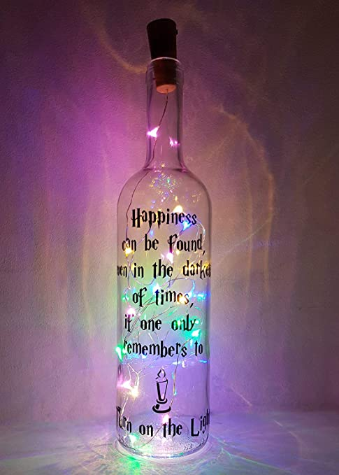 Mooseys Harry Potter Inspirado en la lámpara de Botella de Vino ...