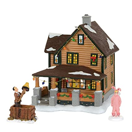 department 56 a christmas story village ralphies house holiday gift set village lit house 8 - A Christmas Story Village