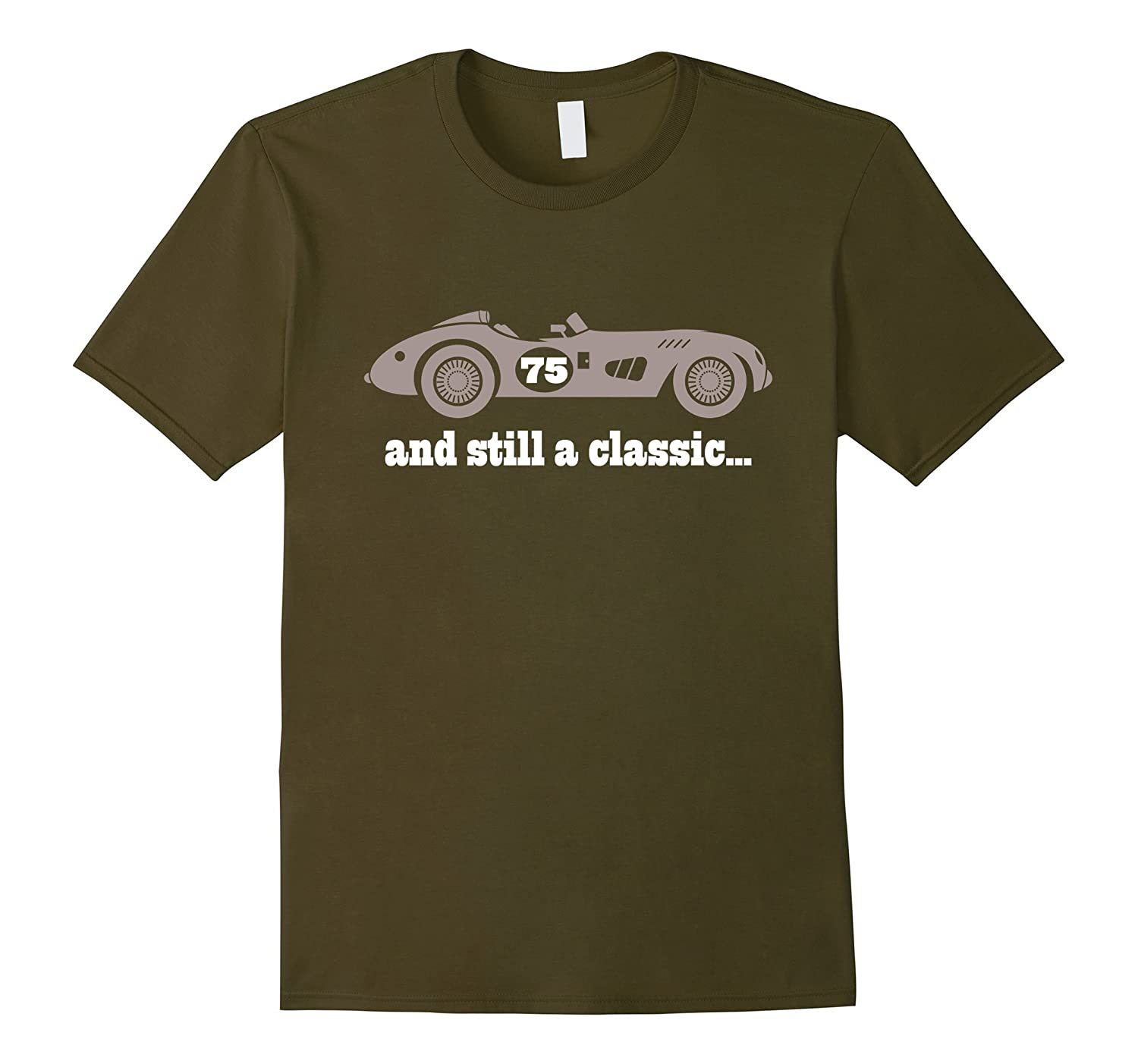 75th Birthday T-shirt Gifts For Men Vintage Car Tee-PL