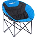 KingCamp Moon Lightweight Round Portable Stable Compact Folding All Seasons Chair for Camping with Carry Bag, Indoor and Outdoor