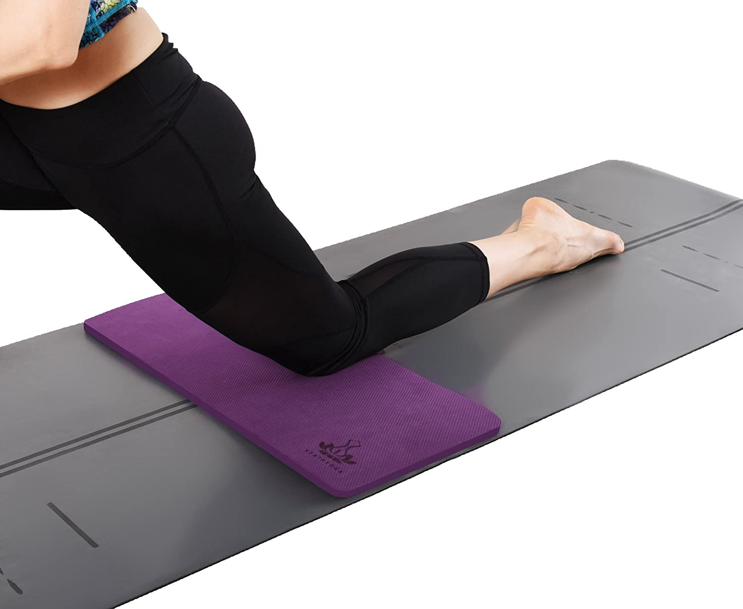 """Heathyoga Yoga Knee Pad, Great for Knees and Elbows While Doing Yoga and Floor Exercises, Kneeling Pad for Gardening, Yard Work and Baby Bath. 26""""x10""""x½"""