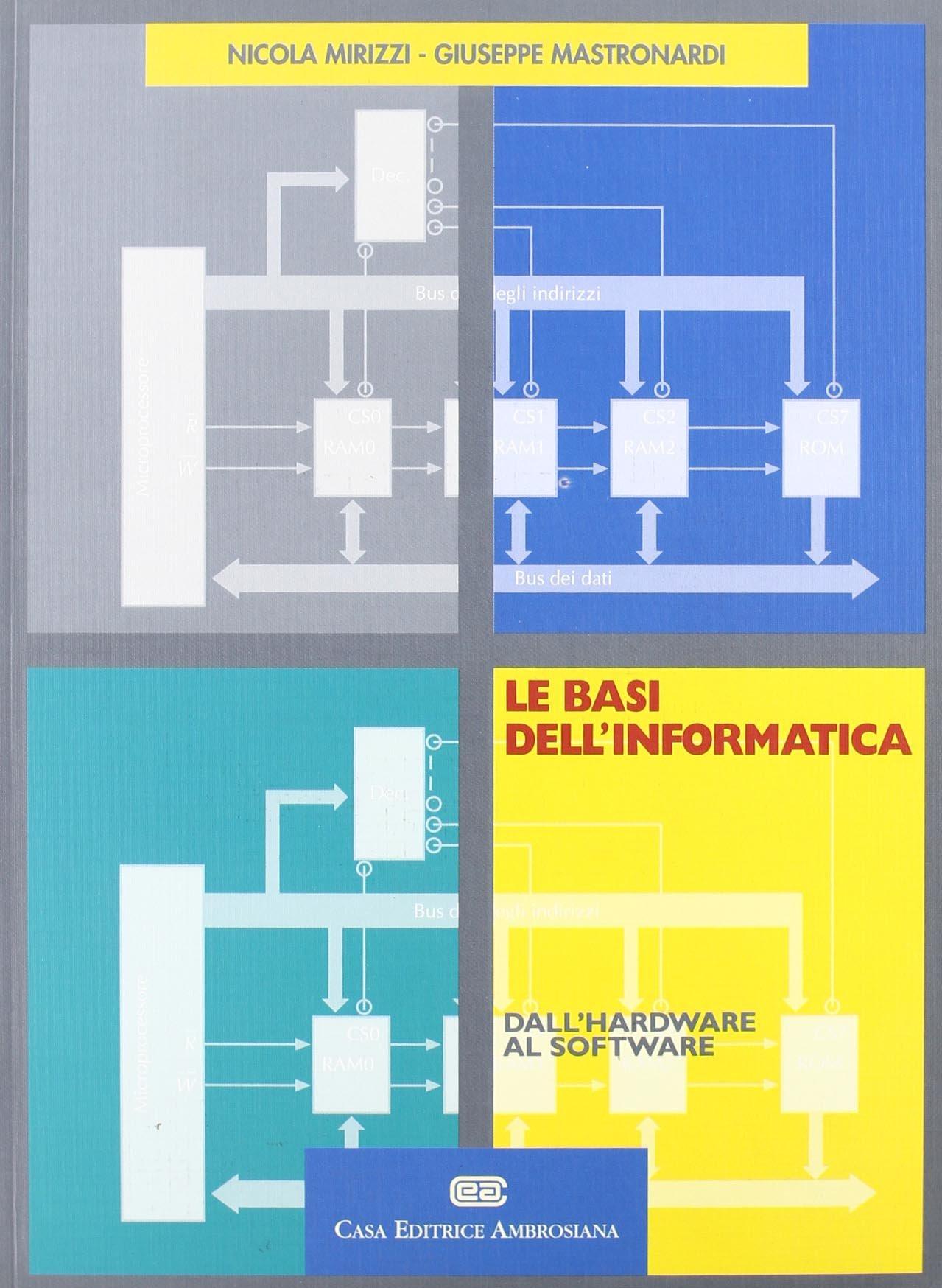 Le basi dell'informatica. Dall'hardware al software Copertina flessibile – 31 gen 1997 Nicola Mirizzi Giuseppe Mastronardi CEA 8808080773