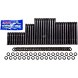 Cylinder Head Stud, 12 Point Nuts, Chromoly, Black Oxide, 18 Degree Air Flow Research, Big Block Chevy, Kit