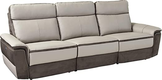 Amazon Com Homelegance Laertes Two Tone Power Reclining Sofa Top