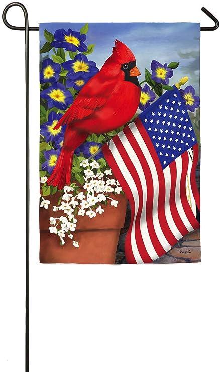 "NEW GARDEN Flag CARDINAL FULL BLAST 12.""x 18"""