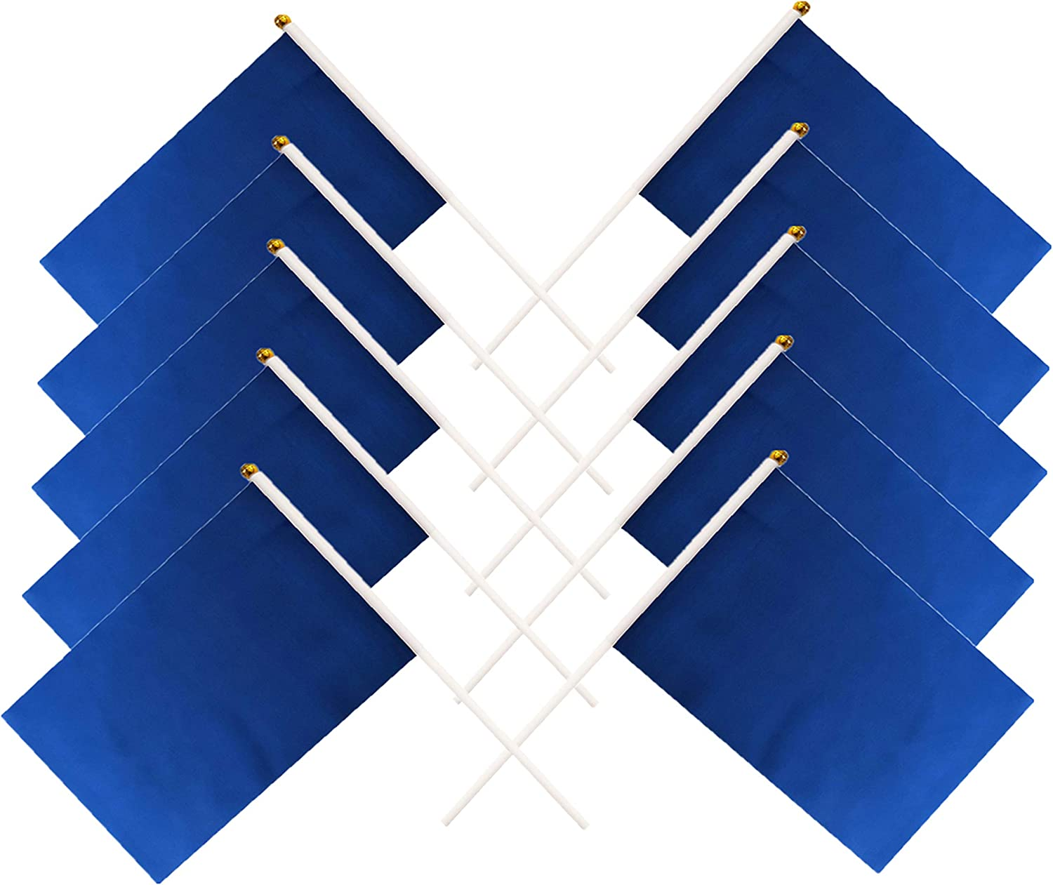 tibijoy 60 Pack Navy Blue Small Mini Flags On Sticks,Hand Held Solid Navy Blue DIY Graffiti Flag,Party Events Celebration,School,Grand Opening,Kids Birthday,Sports Clubs,Flower Pot