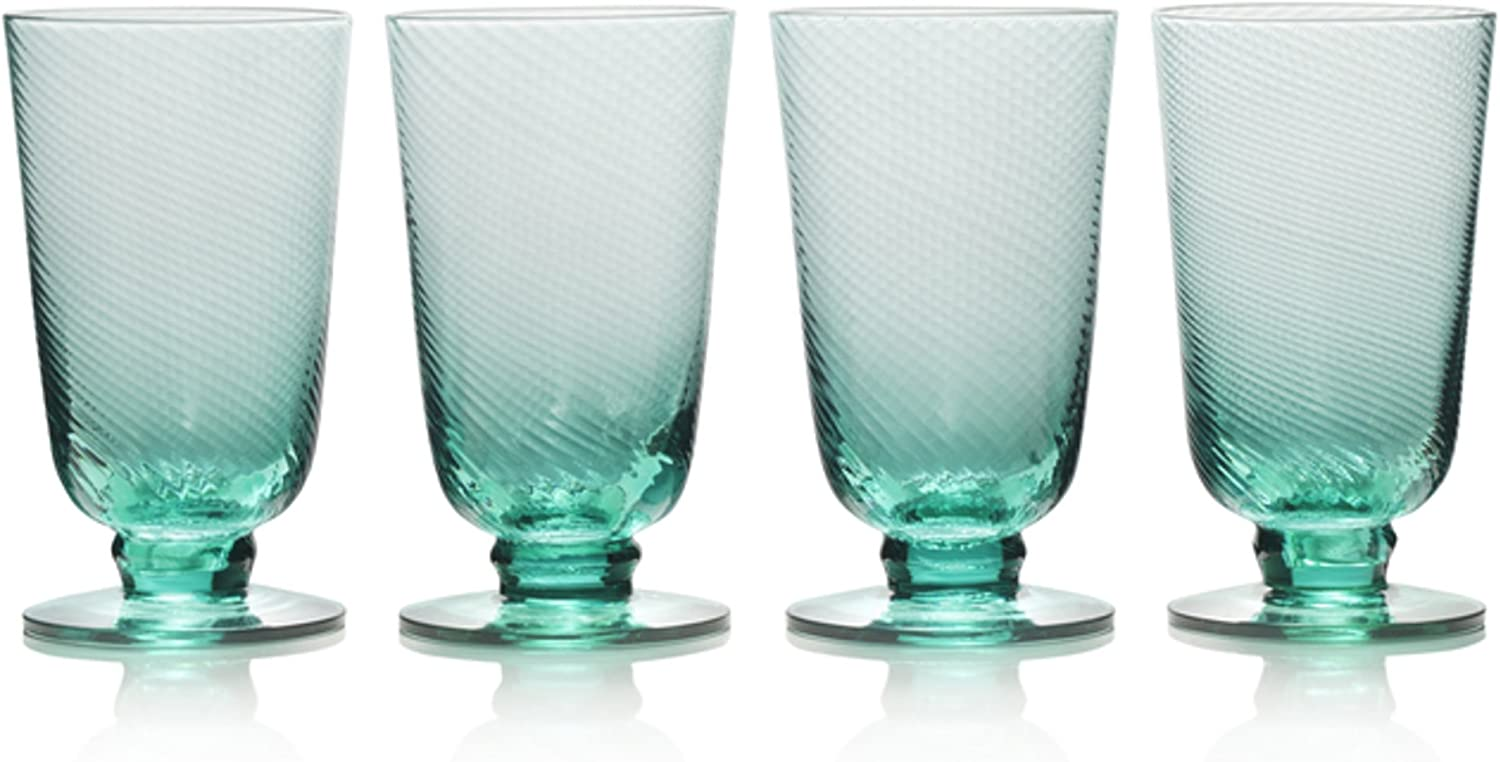 Mikasa Avalon Iced Beverage Glass, Set of 4, 15-Ounce, Green